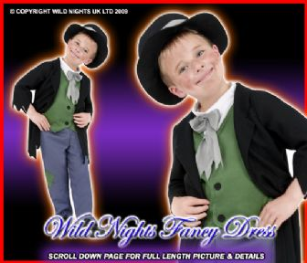 FANCY DRESS COSTUME # DODGY VICTORIAN BOY MED AGE 7-9